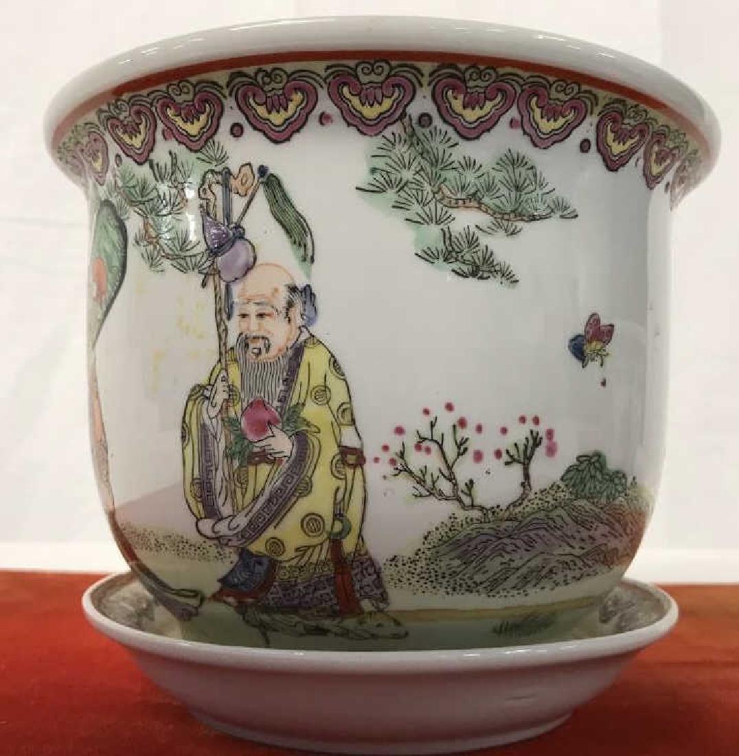 Pair of Oriental Style Planters - 5