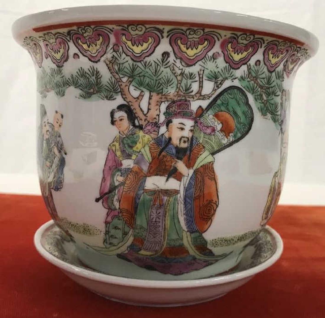 Pair of Oriental Style Planters - 9