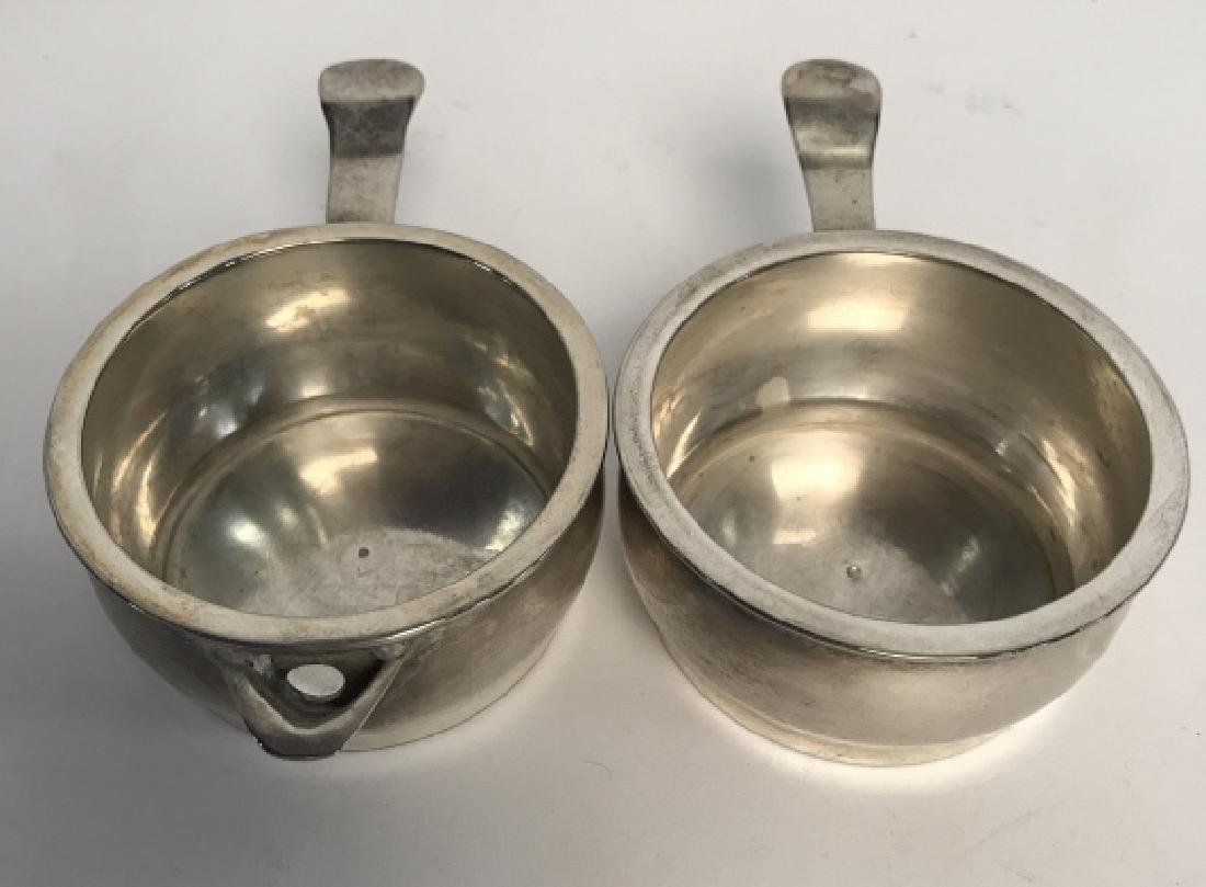 Lot 3 Silver Tone Tea Pot and Serving Dishes - 10