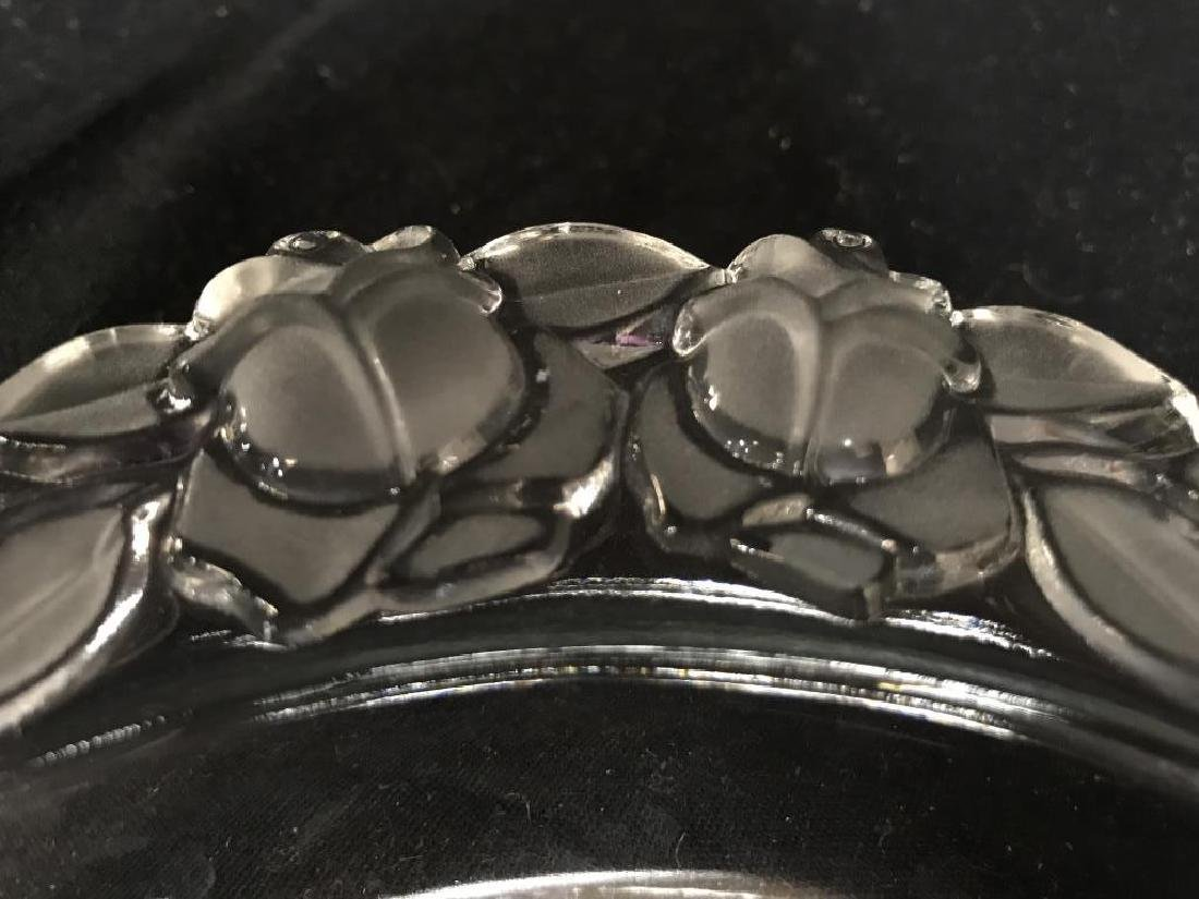 Glass Serving Dish W Frosted Glass Details - 8