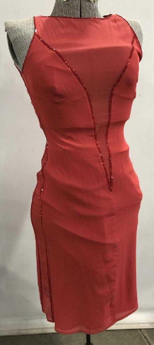 635e71f1c0fc Vintage Handmade sleeveless red sequin SLIP dress. placeholder