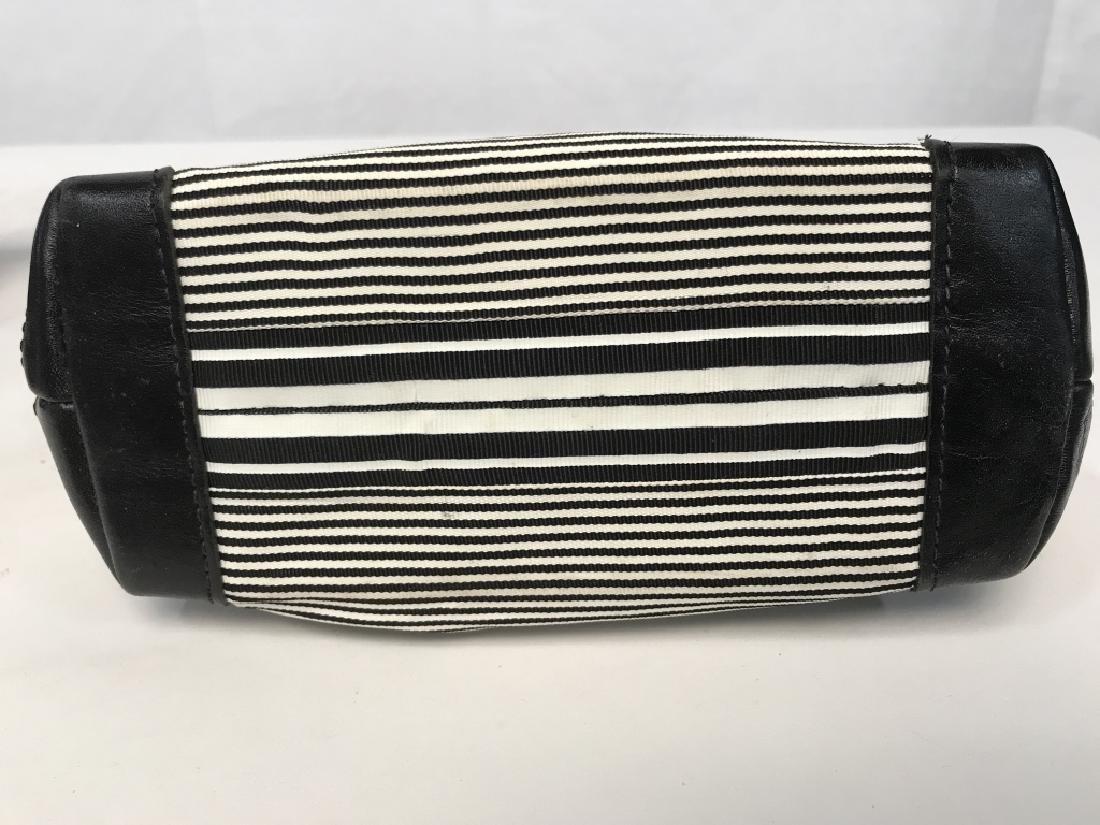 J McLaughlin Ladies Black & White Fabric Handbag - 5