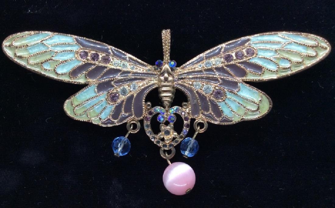 Vintage Enameled Butterfly Brooch/Pendant