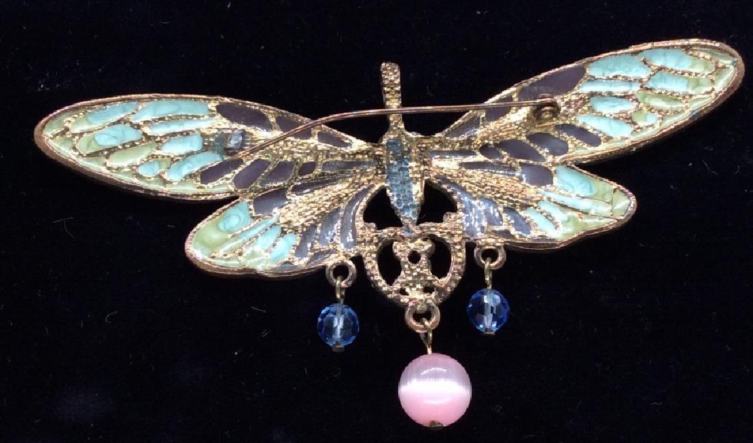 Vintage Enameled Butterfly Brooch/Pendant - 3