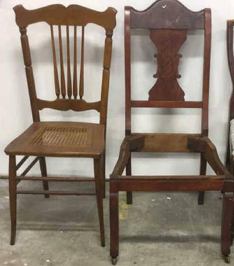 Lot 2 Wood Vintage Side Chairs