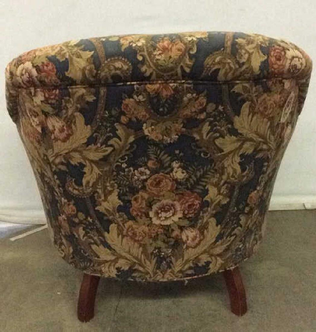 Floral Detailed Arm Chair W Pillow - 2