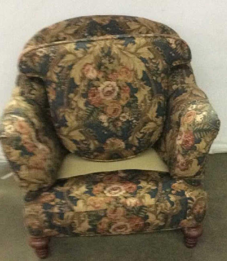Floral Detailed Arm Chair W Pillow - 6