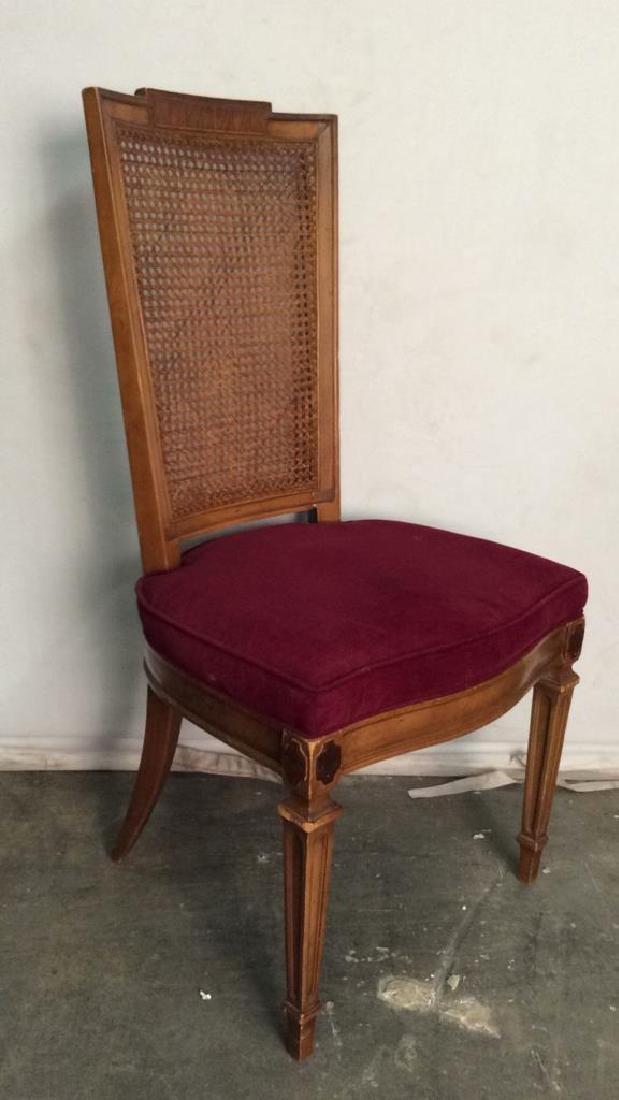 Set 4 Cushioned Caned Dining Chairs - 3