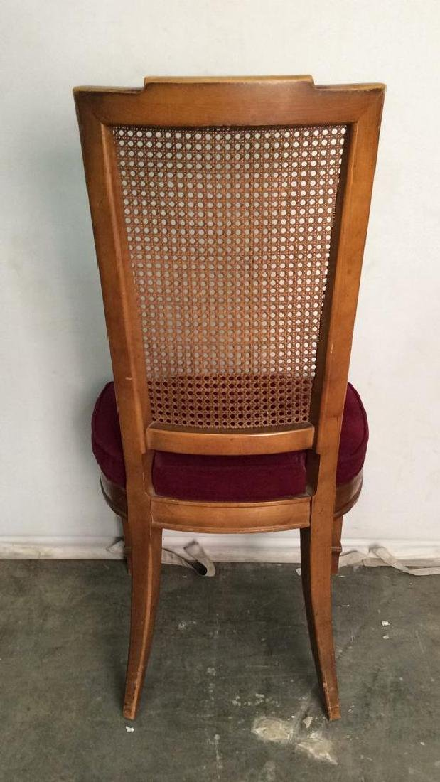 Set 4 Cushioned Caned Dining Chairs - 5