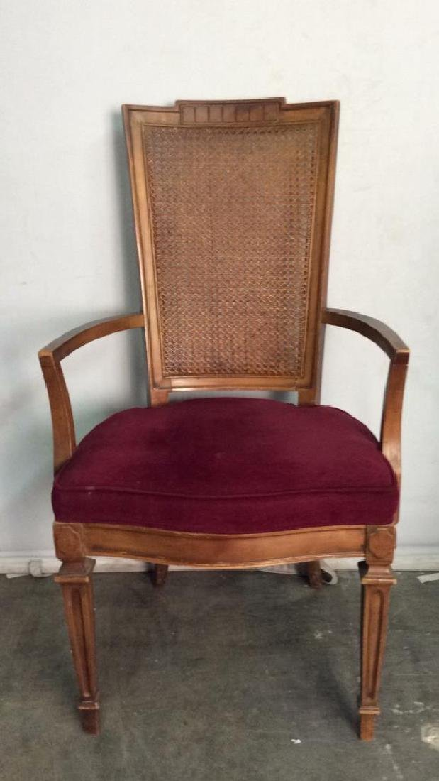 Set 4 Cushioned Caned Dining Chairs - 6