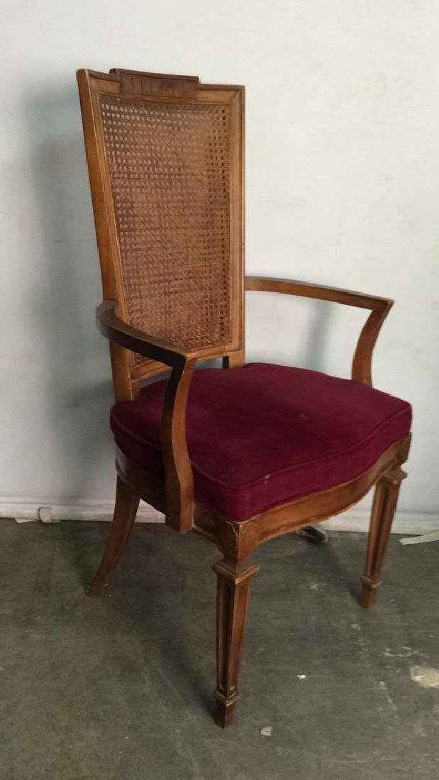 Set 4 Cushioned Caned Dining Chairs - 7