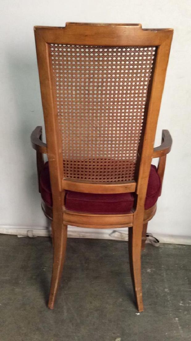 Set 4 Cushioned Caned Dining Chairs - 9