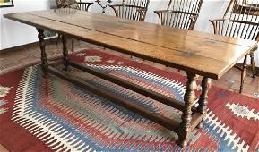 Antique English Oak Folding Top Dining Table