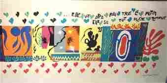 H. MATISSE 1950 Color Lithograph Exhibition Poster