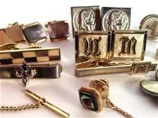 Group Lot Cufflinks Estate Jewelry