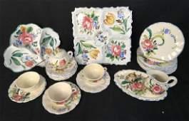 Lot 23 Italian Hand Painted Ceramic Dishes