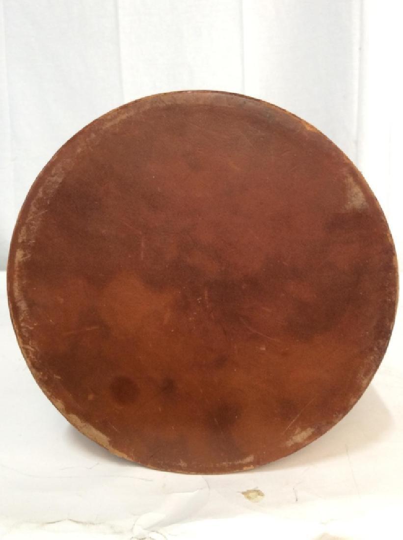 Vintage Leather Mounted Bucket / Bin - 6