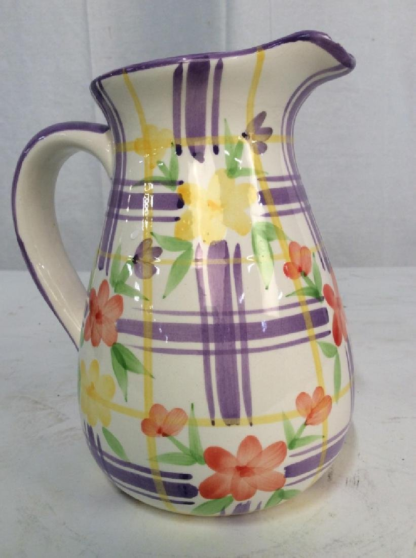 Vintage Ceramic Water Pitcher Jug,