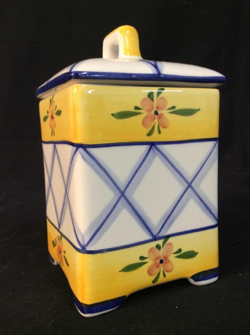 Handpainted Portuguese Ceramic Cookie Jar