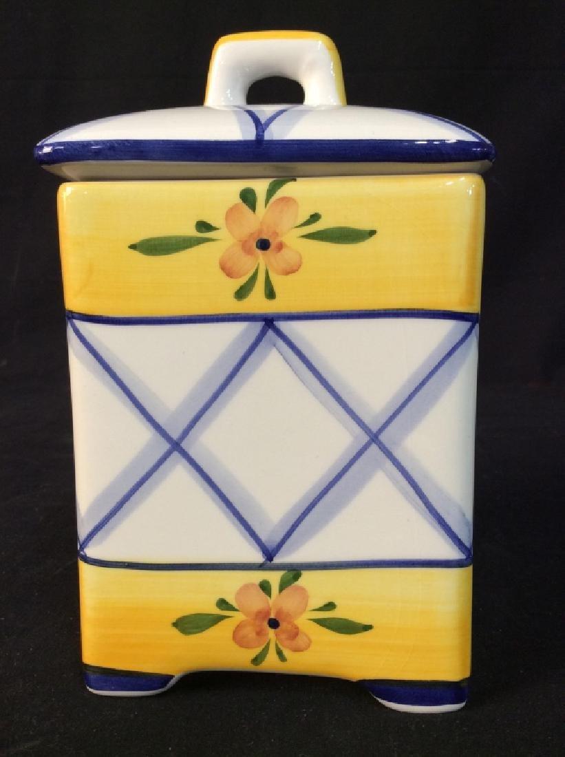 Handpainted Portuguese Ceramic Cookie Jar - 2