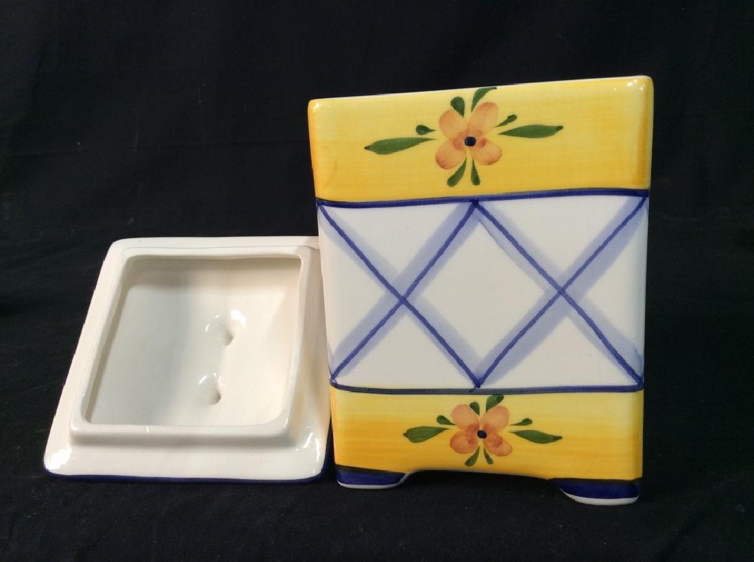Handpainted Portuguese Ceramic Cookie Jar - 4
