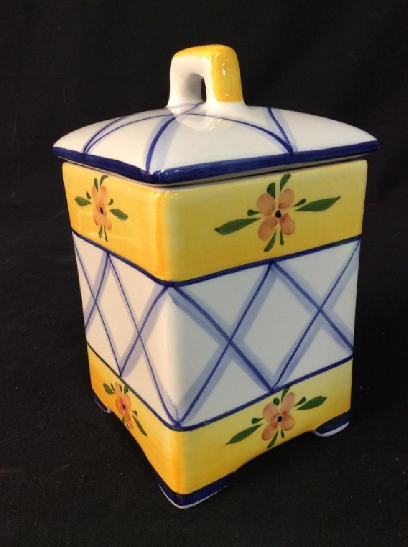 Handpainted Portuguese Ceramic Cookie Jar - 7