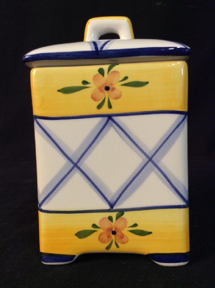 Handpainted Portuguese Ceramic Cookie Jar - 8