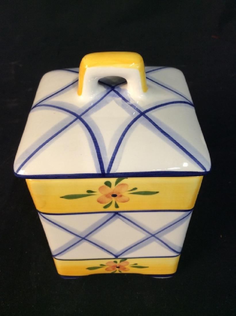 Handpainted Portuguese Ceramic Cookie Jar - 9