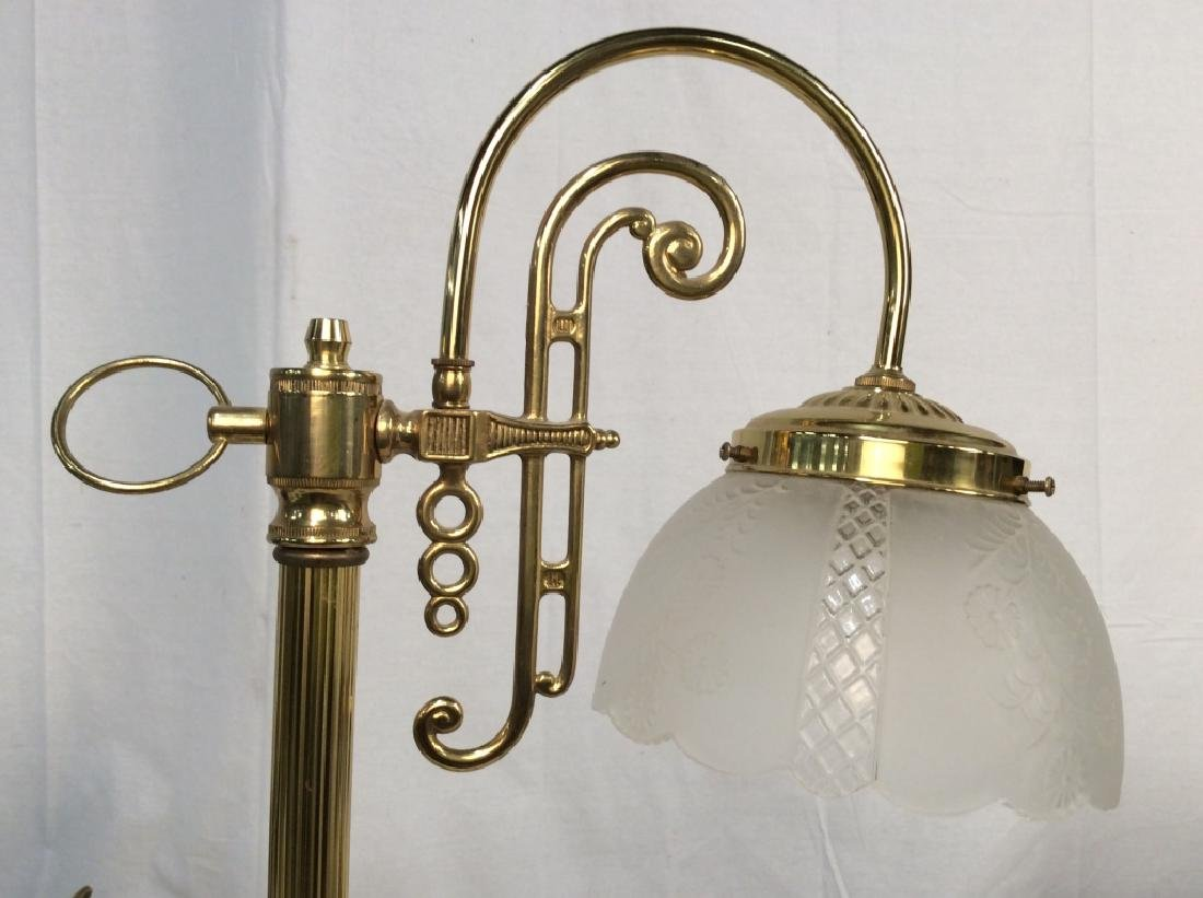 Vintage Style Brass Toned Table Lamp with Shade - 6