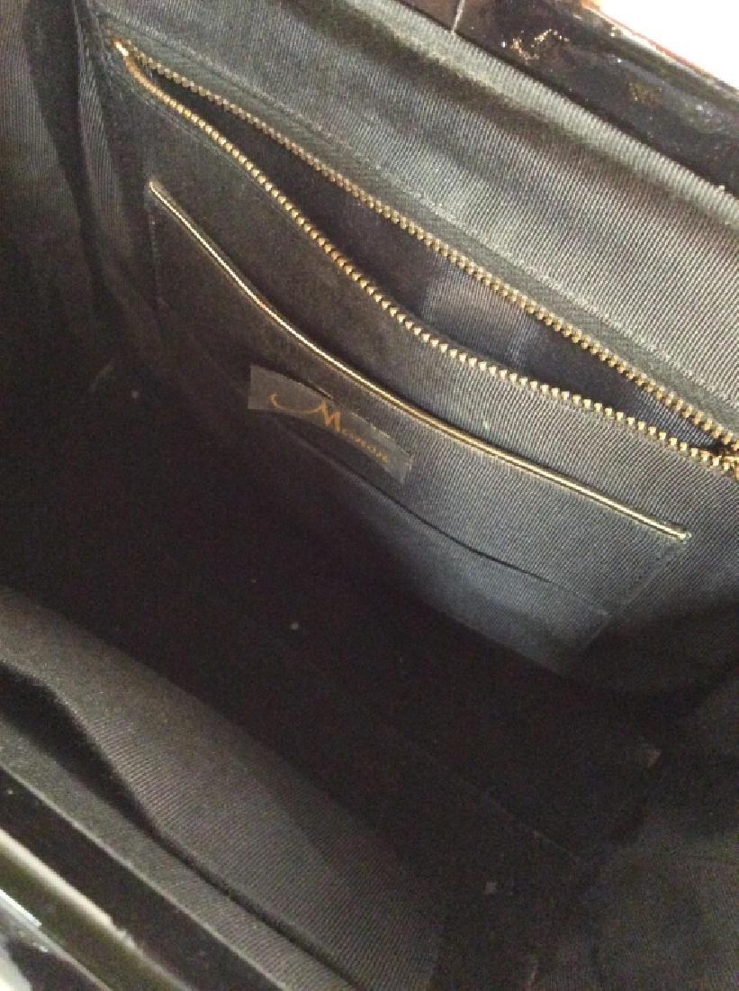 Vintage Manon Black Patent Leather Ladies Handbag - 5