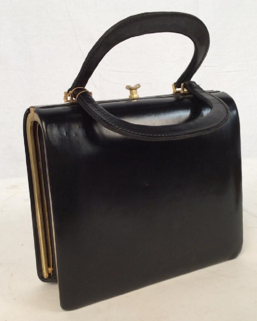 Vintage Ladies Tano Black Leather Handbag