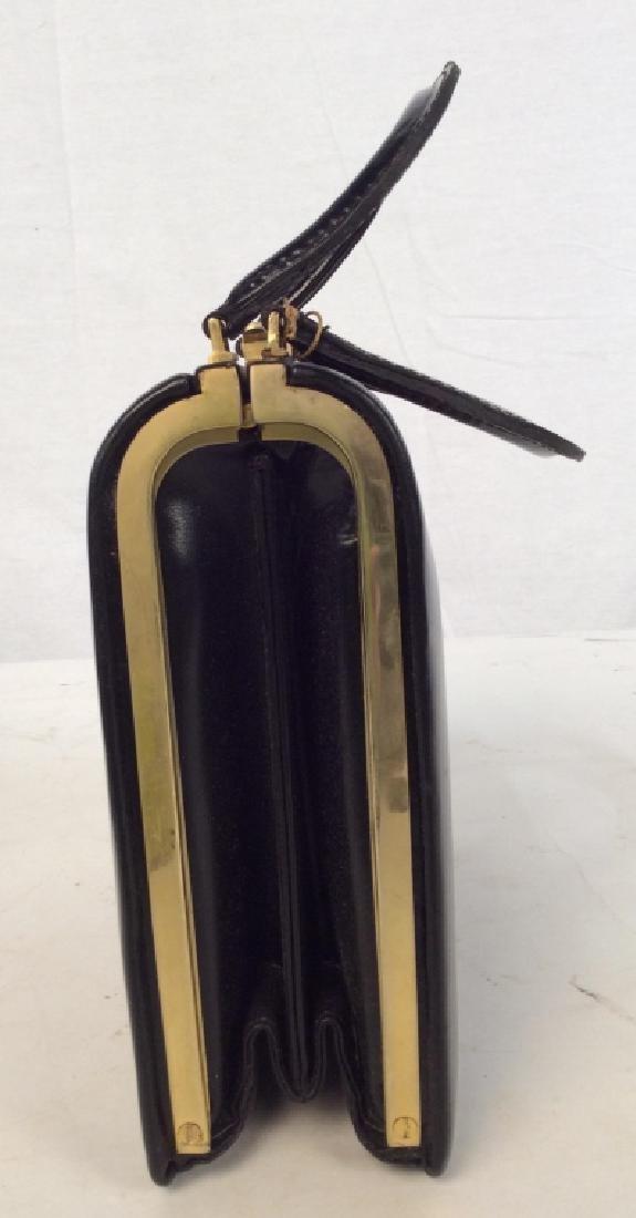 Vintage Ladies Tano Black Leather Handbag - 2