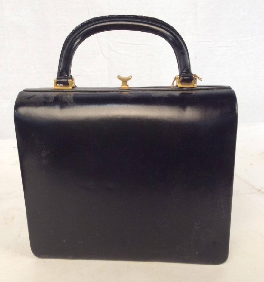 Vintage Ladies Tano Black Leather Handbag - 3