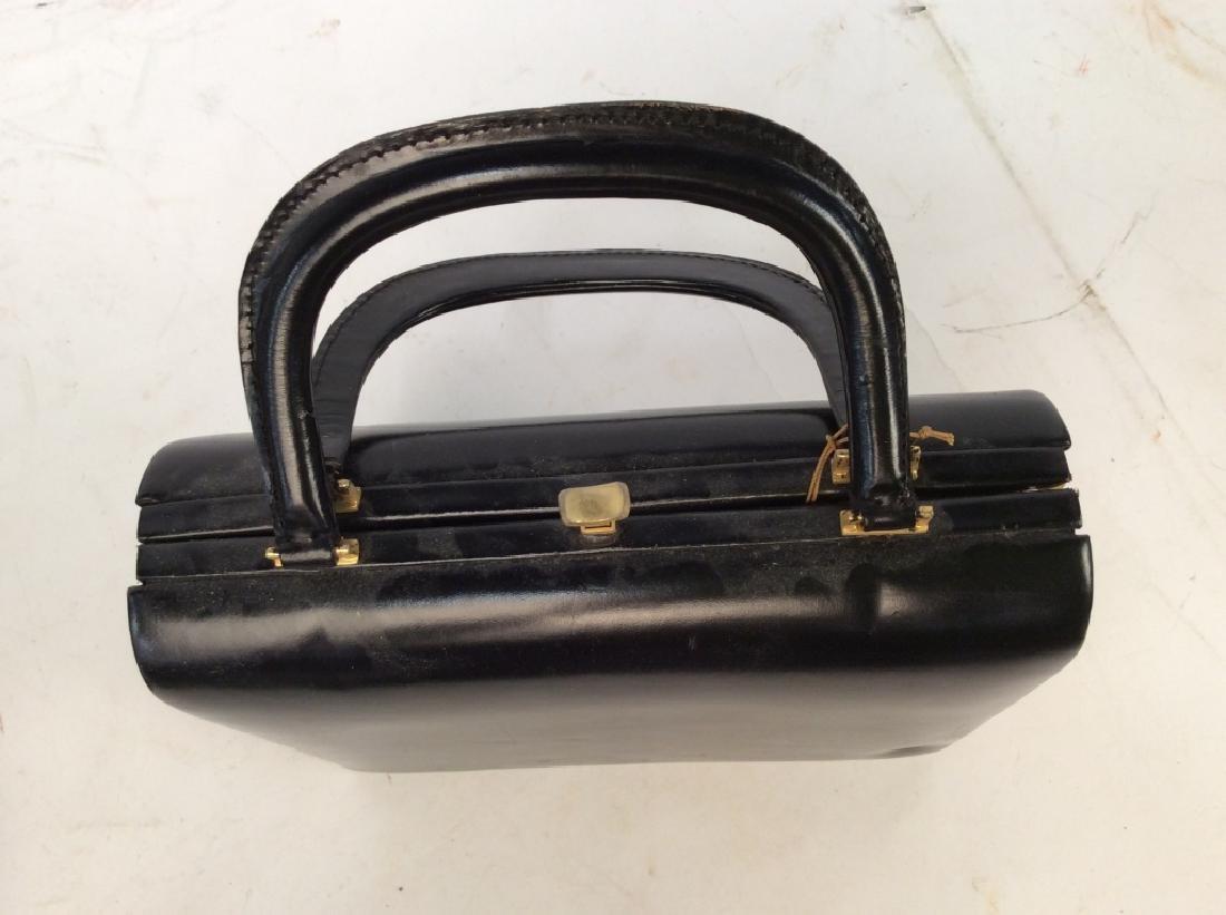 Vintage Ladies Tano Black Leather Handbag - 4