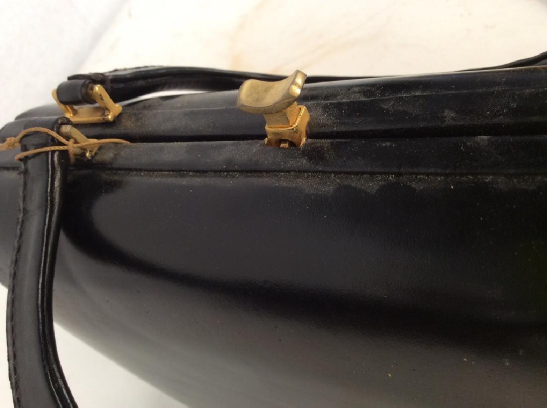Vintage Ladies Tano Black Leather Handbag - 6