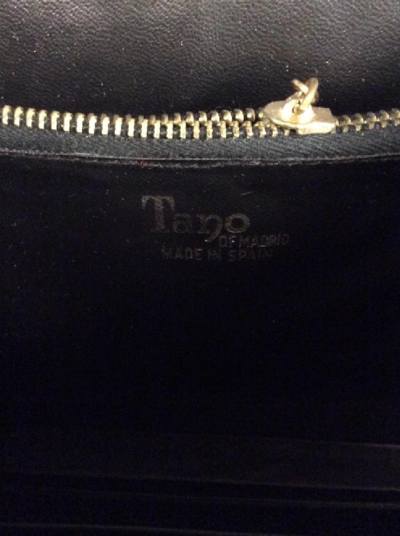 Vintage Ladies Tano Black Leather Handbag - 8