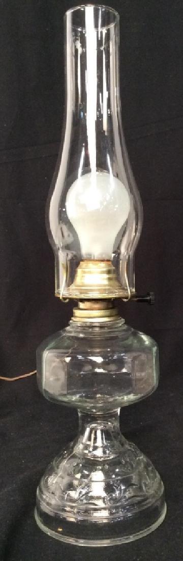 Vintage Glass Kerosene Table Lamp - 2