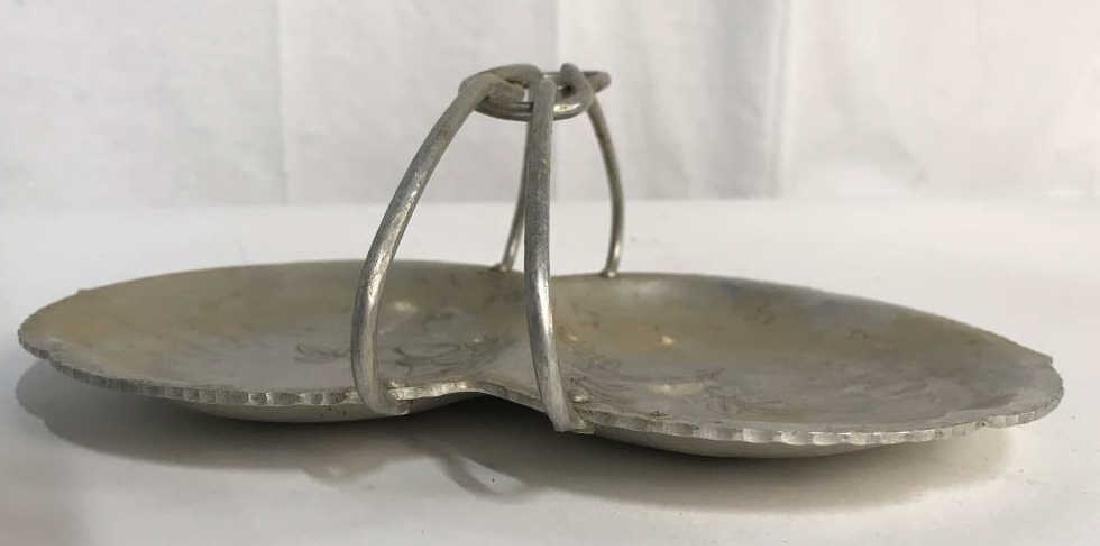 Hand Wrought Metal Serving Tray W Handle - 7