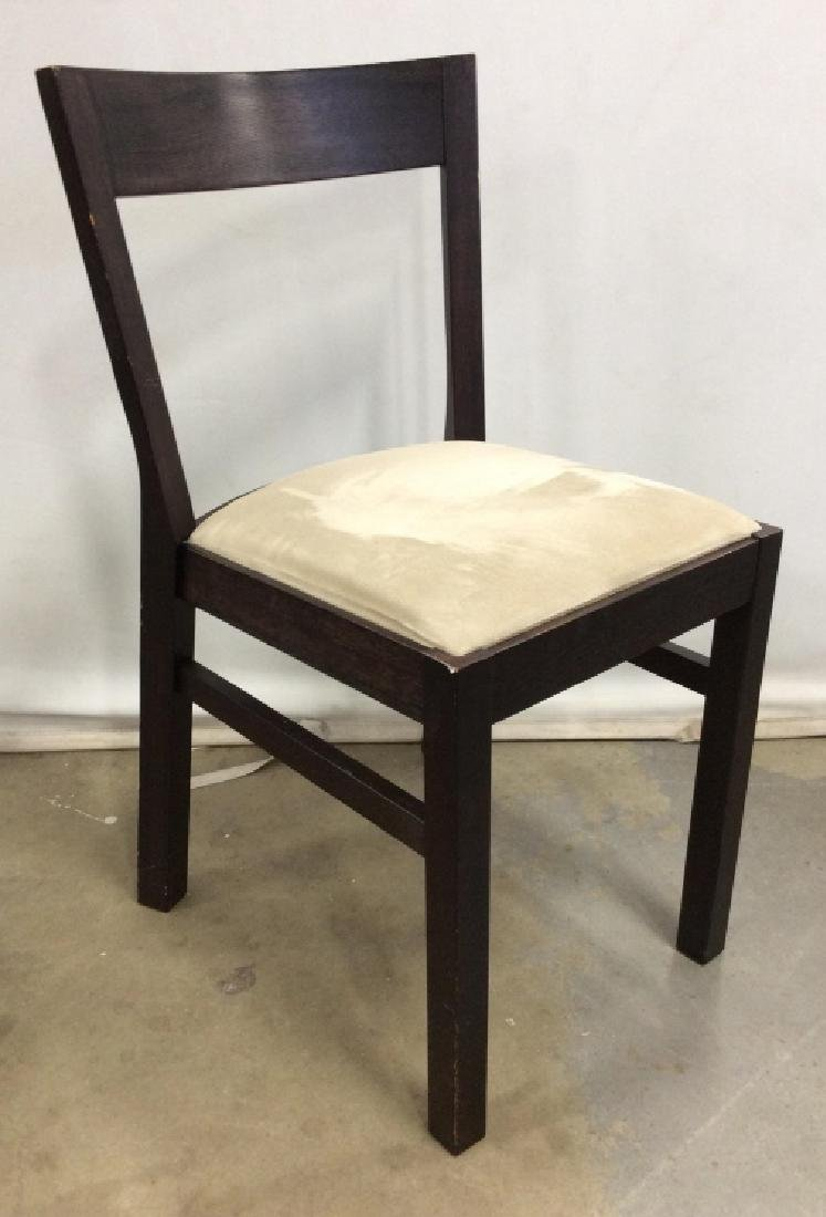 Wooden Side Chair W Upholstered Cushion