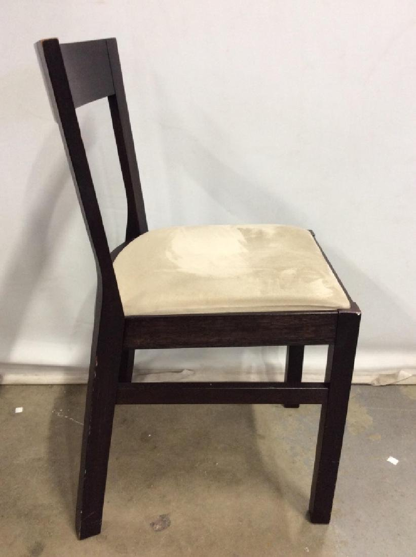 Wooden Side Chair W Upholstered Cushion - 3