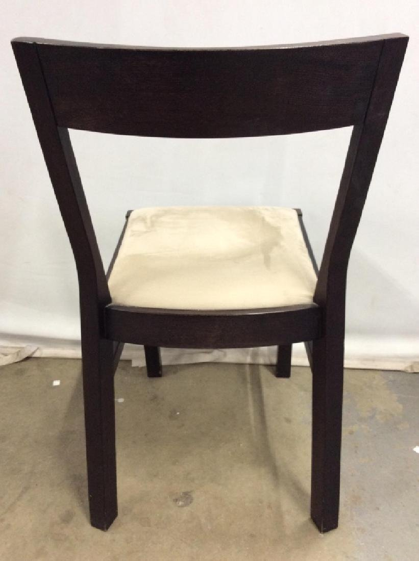 Wooden Side Chair W Upholstered Cushion - 4
