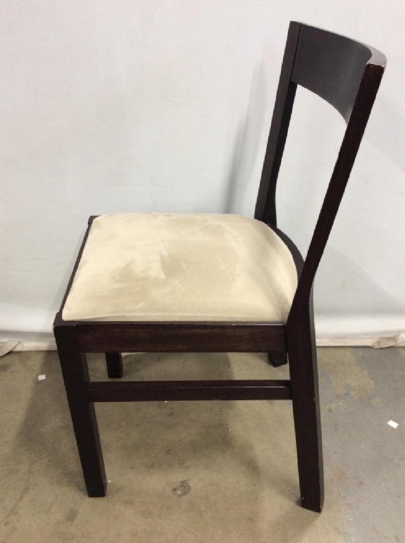 Wooden Side Chair W Upholstered Cushion - 5