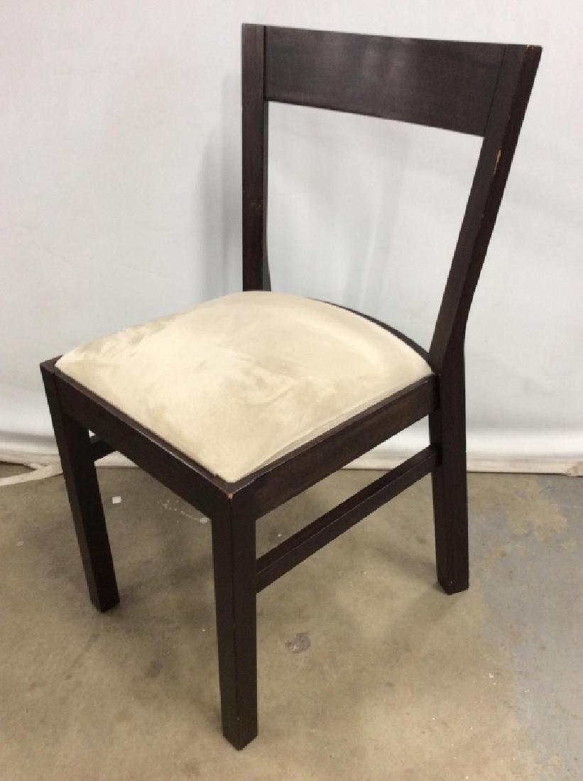 Wooden Side Chair W Upholstered Cushion - 6