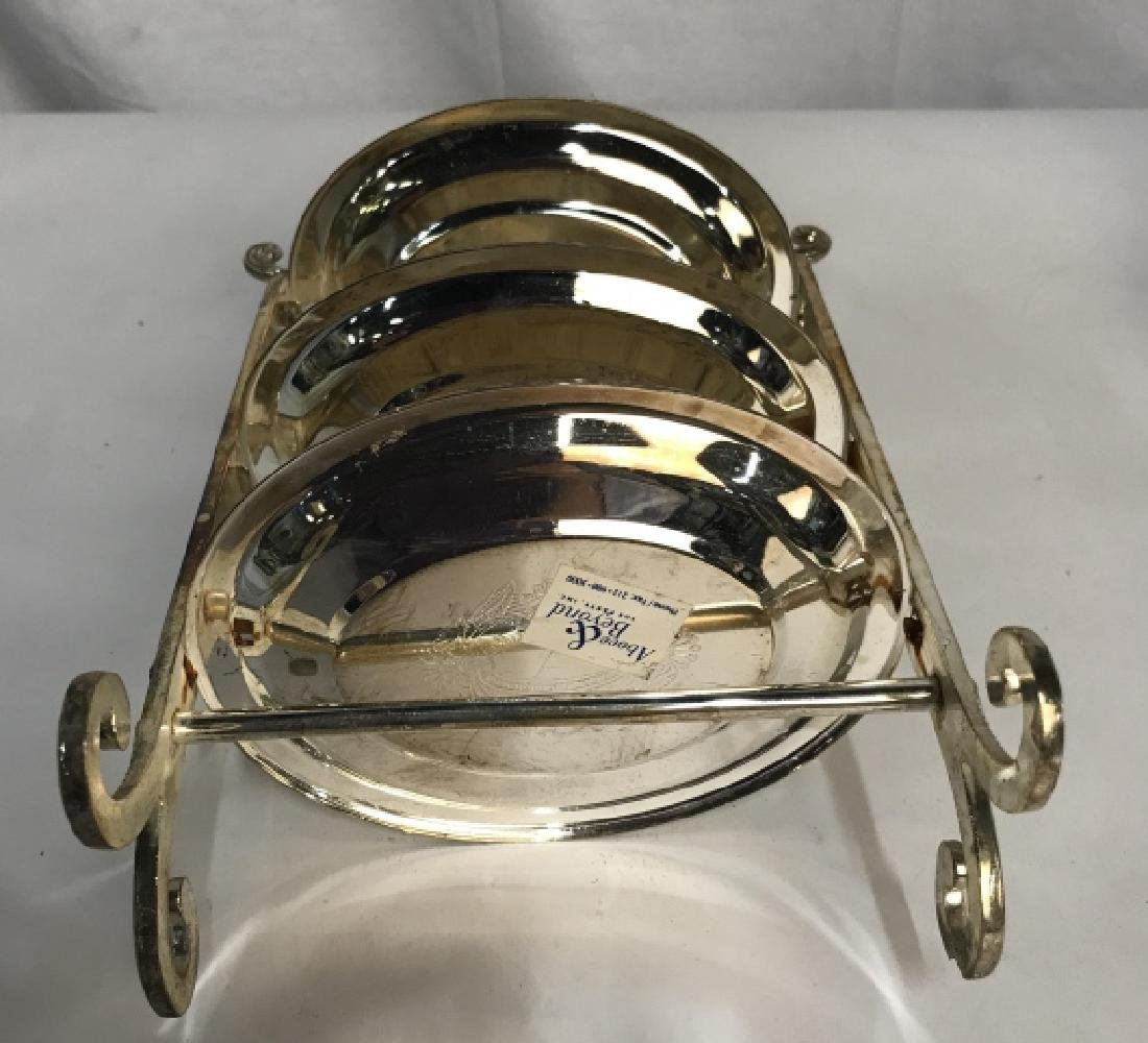 Set 5 Silver Plated Tiered High Tea Serving Trays - 4