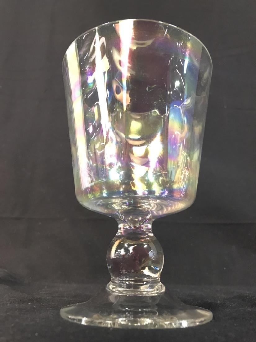 Lidded Pearlescent Pedestaled Candy Dish - 8