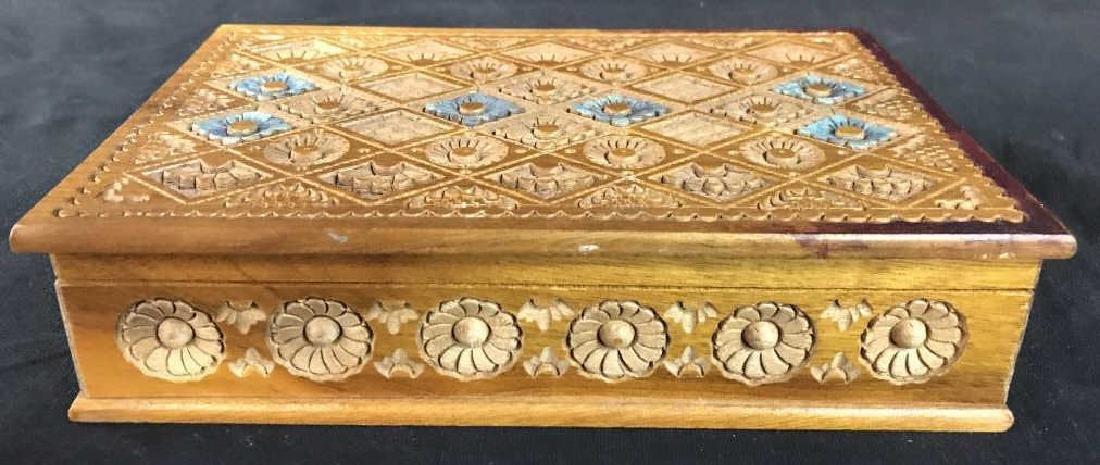 Carved Wooden Keepsake Box