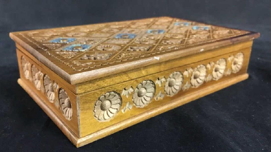 Carved Wooden Keepsake Box - 4