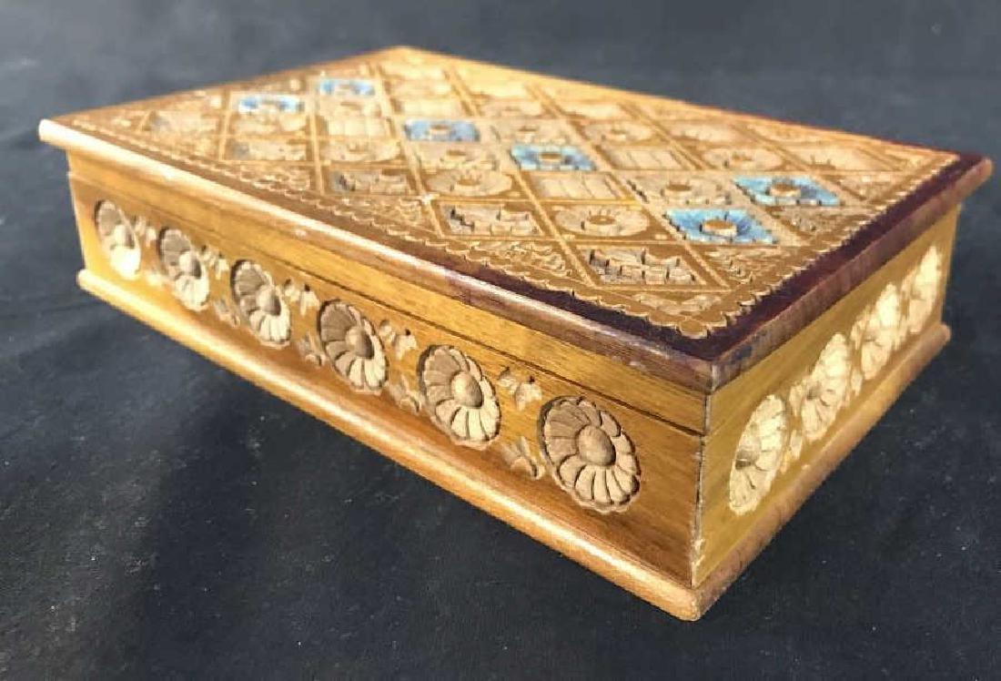Carved Wooden Keepsake Box - 5