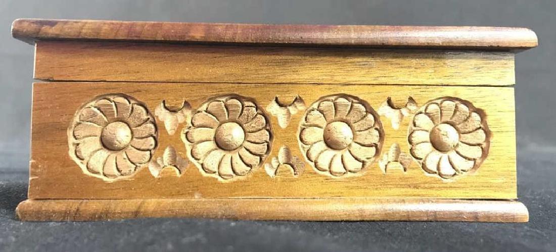 Carved Wooden Keepsake Box - 6