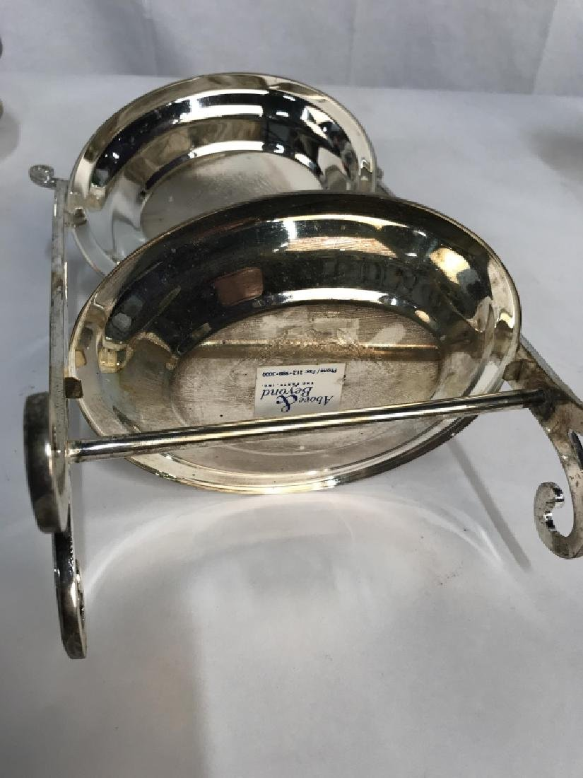 Set 5 Silver Plated Tiered High Tea Serving Trays - 5